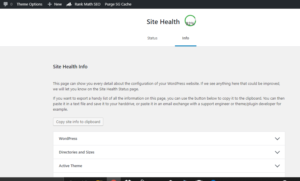 how to check wordpress blog health? 2