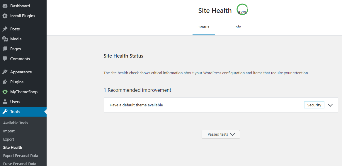 how to check wordpress blog health? 1