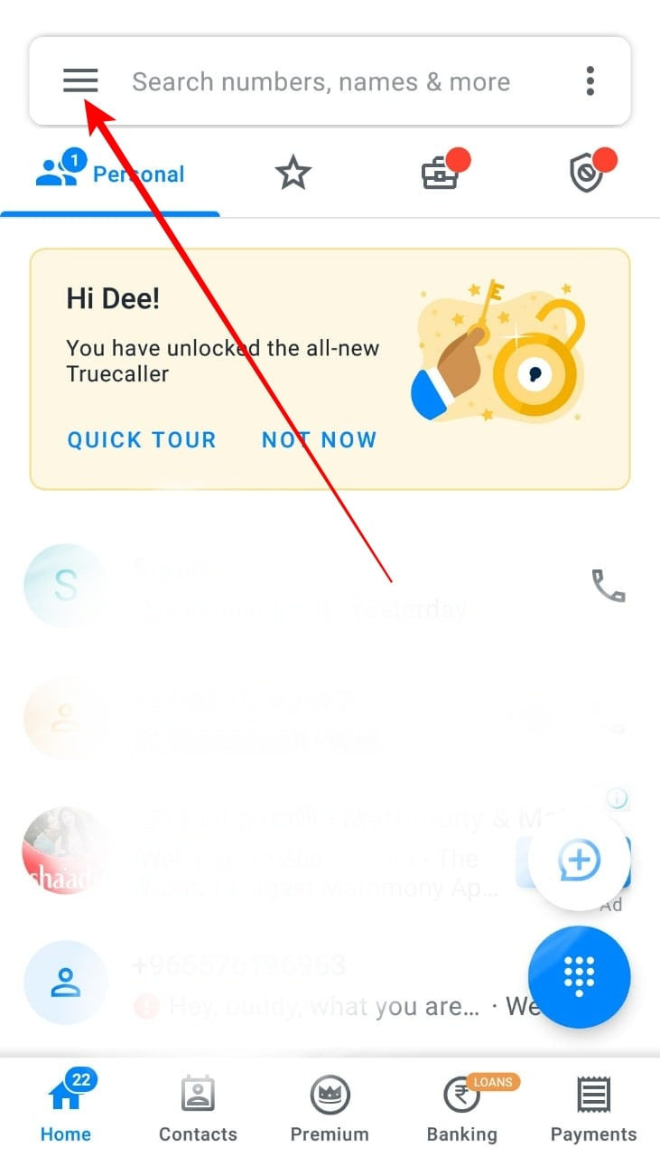 Change Your Name in Truecaller 1