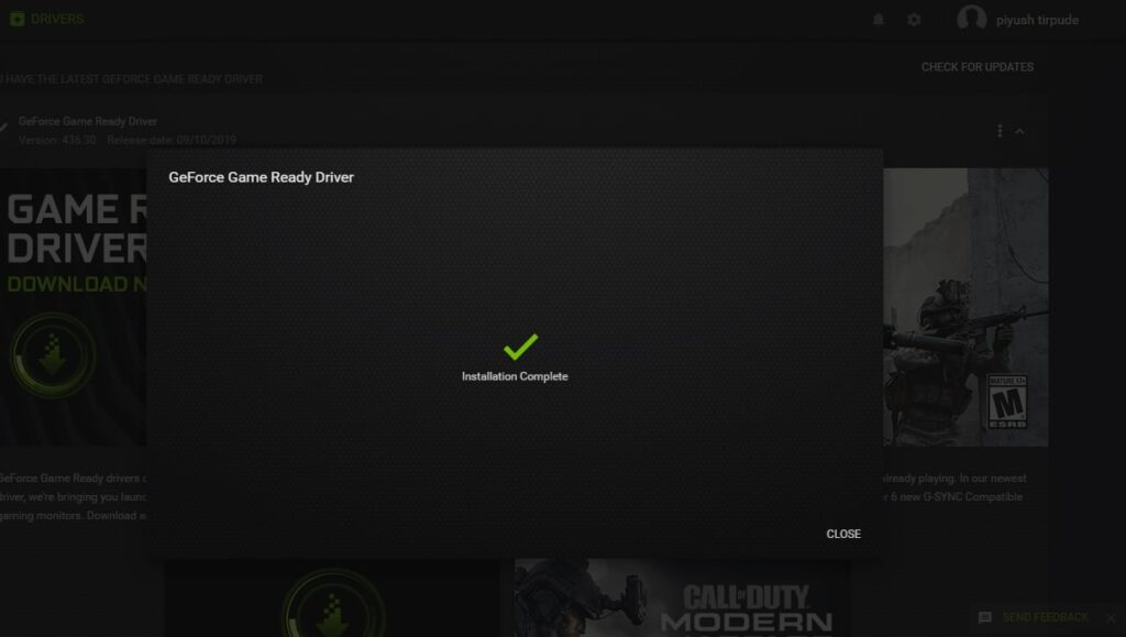 Updating Drivers with the GeForce Experience App