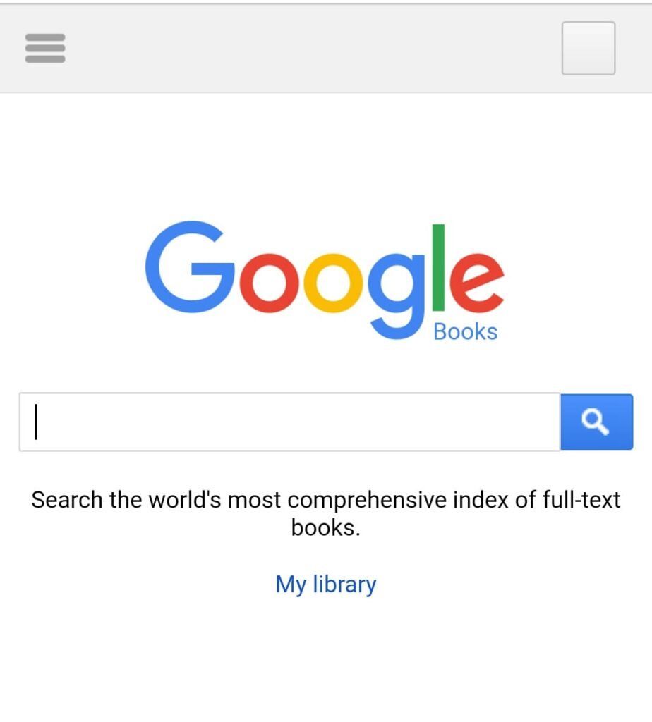 Search using Google Books